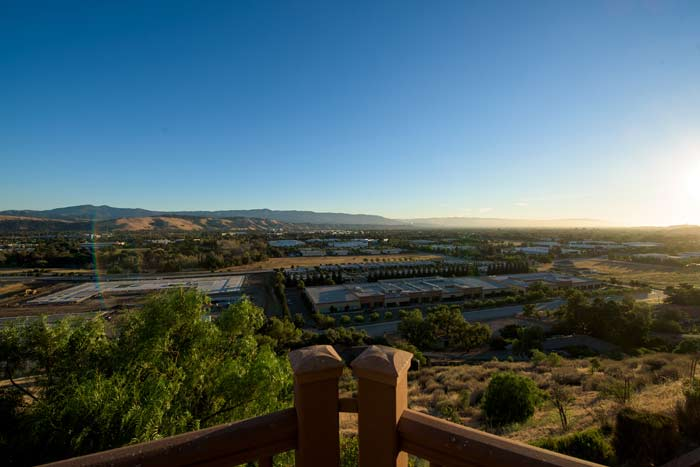 beautiful view of San Jose CA area at Wellness Retreat